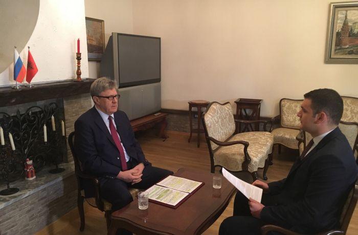 Интервью Посла России в Тиране Александра Карпушина албанскому телеканалу Ora News