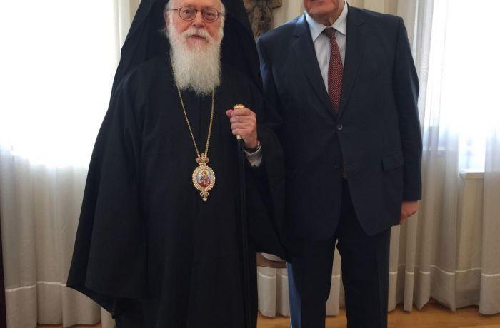 Посол России в Албании встретился с главой Албанской автокефальной православной церкви