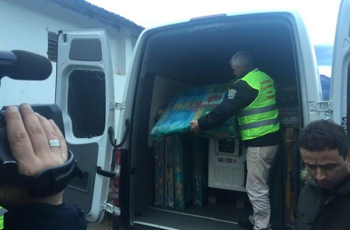 О доставке в Албанию гуманитарной помощи из Российско-сербского гуманитарного центра в г.Ниш