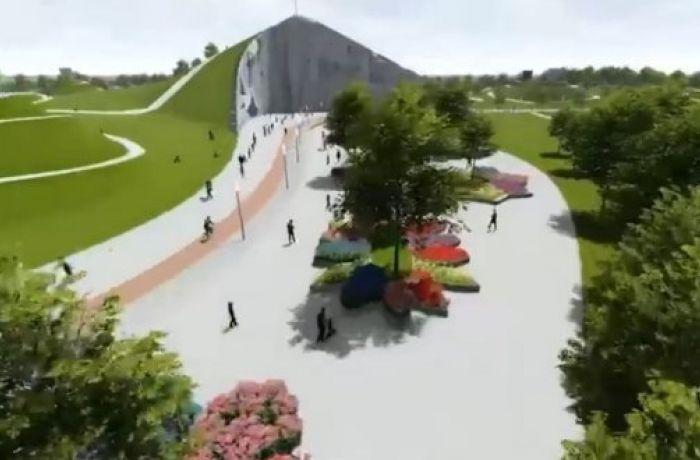 В албанском городе Дуррес разбивают парк на месте свалки