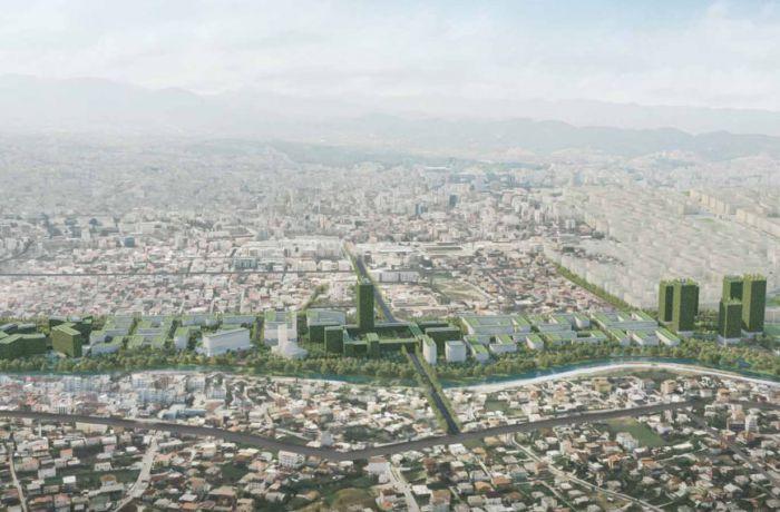 Tirana Riverside – новый микрорайон в столице Албании от итальянских архитекторов