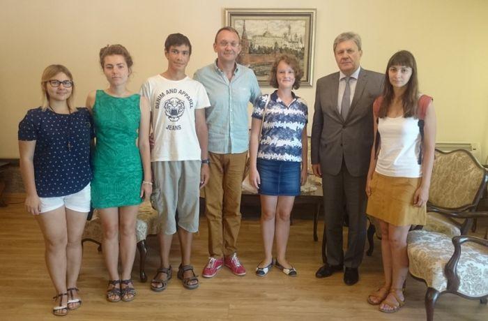 Посол России встретился со студентами СПбГУ – слушателями курсов албанского языка в Тиране