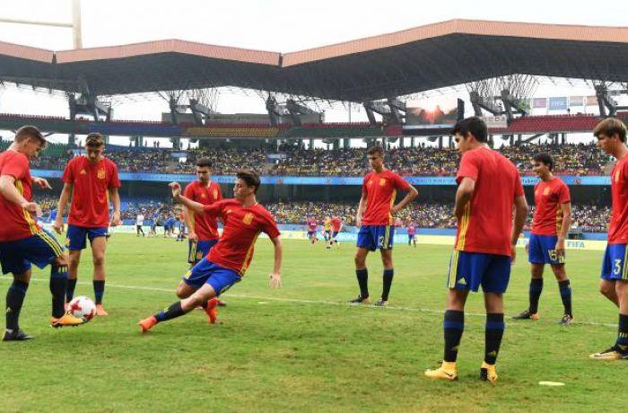 Молодежная сборная Албании по футболу уступила команде Испании