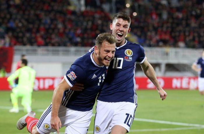 Лига наций УЕФА: сборная Албании пропустила 4 гола в матче против Шотландии