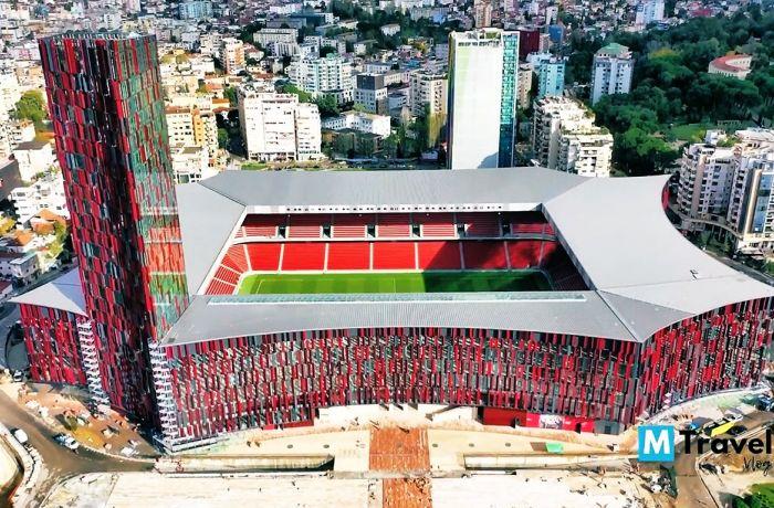 Национальный стадион сборной Албании набирает популярность в соцсетях